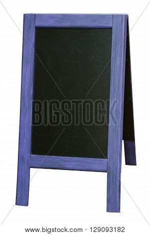 Wooden menu board closeup with clipping path