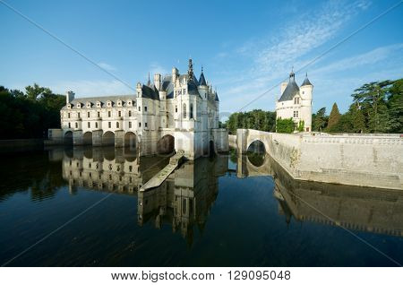 Chenonceau Castle, Loire Valley, France. Known as