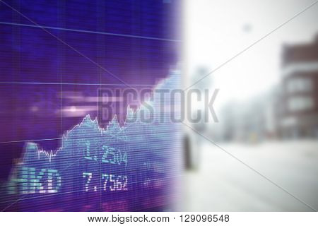 Stocks and shares against wall of a house