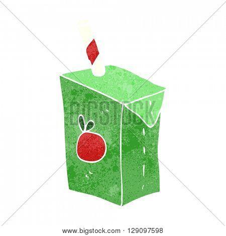 freehand retro cartoon juice box