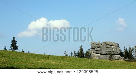 Rock formation - Karkonosze mountains in Poland