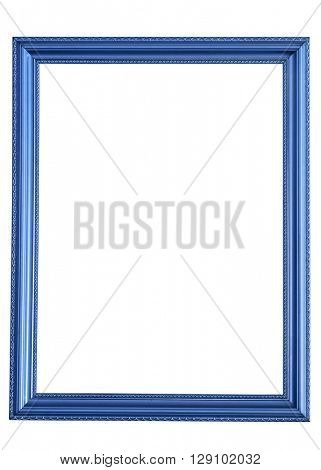 blue frame isolated on white background