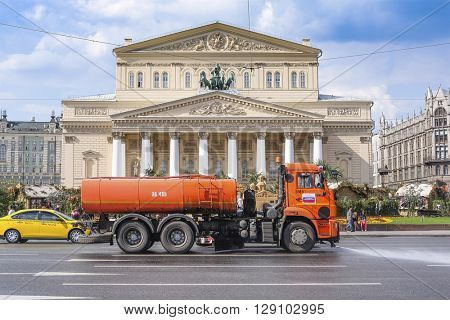Moscow, Russia - May, 6, 2016: Bolshoy (Big) theatre in Moscow, Russia.