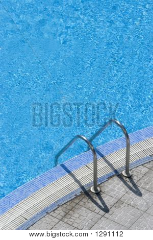 Steps Into Hotel Swimming Pool