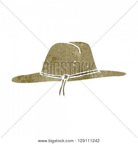 freehand retro cartoon hat