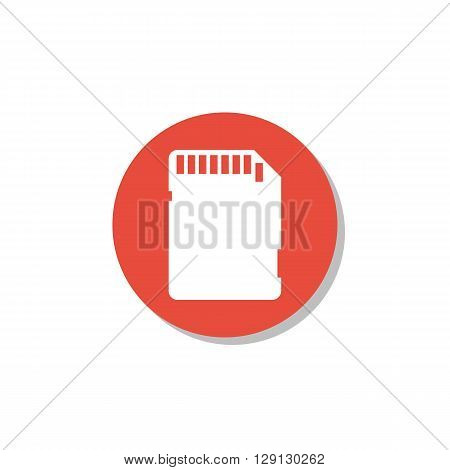 Sd Card Icon In Vector Format. Premium Quality Sd Card Symbol. Web Graphic Sd Card Sign On Red Circl