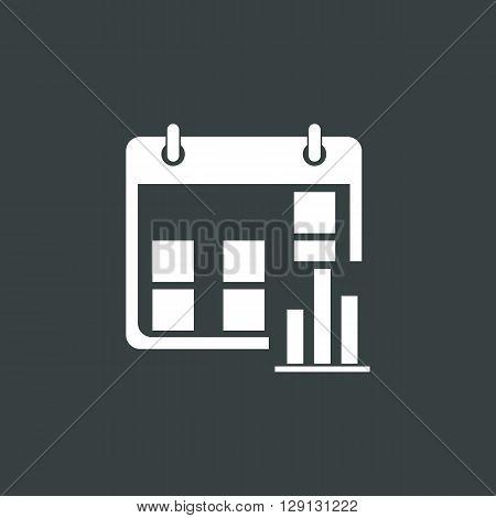 Calendar Stats Icon In Vector Format. Premium Quality Calendar Stats Symbol. Web Graphic Calendar St