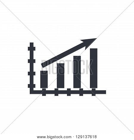 Stats Up Icon In Vector Format. Premium Quality Stats Up Symbol. Web Graphic Stats Up Sign On White