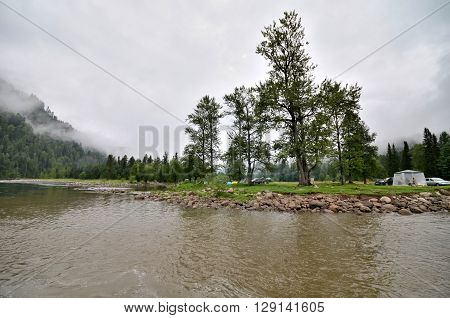 View of the Biya river. Russia Altai Republic