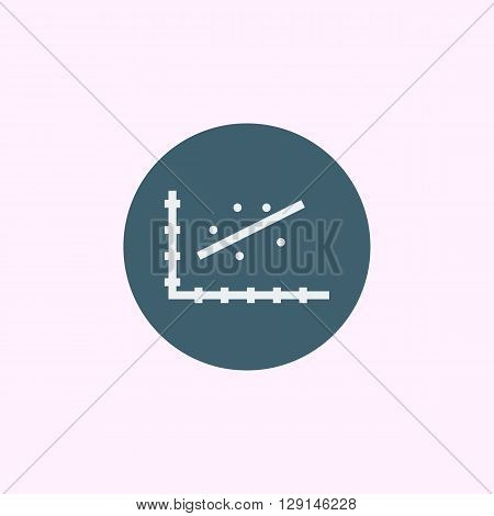 Scatter Chart Icon In Vector Format. Premium Quality Scatter Chart Symbol. Web Graphic Scatter Chart