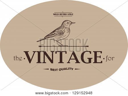 Hunting Club Vintage Template Emblem. Label or Badge for Advertising, Hunter Equipment and other Design. Retro Style Illustration.