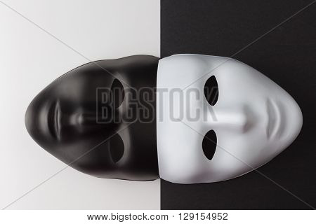 Black And White Masks Anonymity Concept