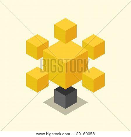 Isometric Cubic Light Bulb