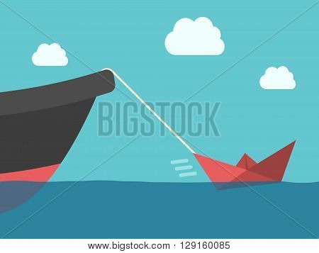 Paper Boat, Metallic Ship