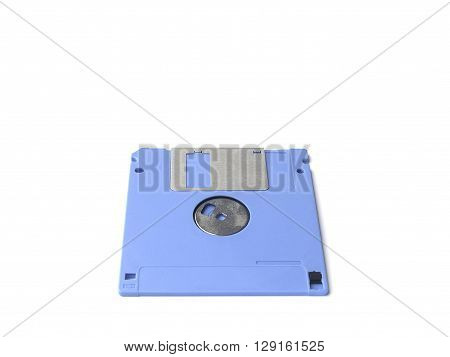 sky blue floppy disk or diskette isolated on white background floppy disk is magnetic computer data storage