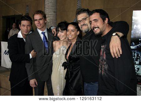 "Raul Mendez, Tony Dalton, Rocio Verdejo, Ana Claudia Talancon, Joaquin Cosio and Alejandro Lozano at the LA premiere of ""Matando Cabos"" held at the Eygptian Theatre in Hollywood on on August 22, 2005."