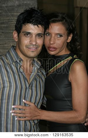 """Pietra Thornton and Antonio Rufino at the Los Angeles premiere of """"Matando Cabos"""" held at the Egyptian Theatre in Hollywood, USA on August 22, 2005."""