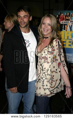 """Erin Torpey and Jason Shane-Scott at the World premiere of """"Dirty Deeds"""" held at the DGA Theatre in Hollywood, USA on August 24, 2005."""
