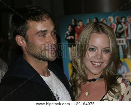 """Erin Torpey and Jason-Shane Scott at the World premiere of """"Dirty Deeds"""" held at the DGA Theatre in Hollywood, USA on August 24, 2005."""