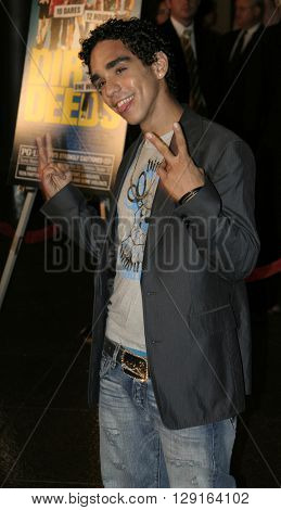 """Ray Santiago at the World premiere of """"Dirty Deeds"""" held at the DGA Theatre in Hollywood, USA on August 24, 2005."""
