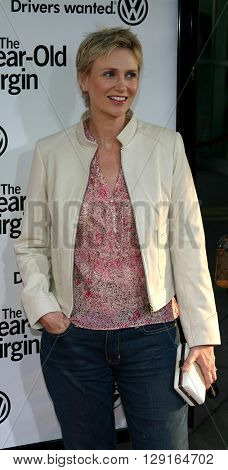 "Jane Lynch at the Los Angeles premiere of ""The 40 Year-Old Virgin"" held at the ArcLight Theatre in Hollywood, USA on August 11, 2005."