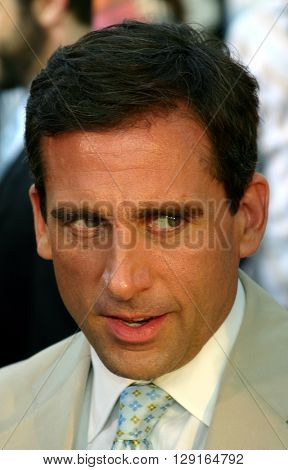 "Steve Carell at the Los Angeles premiere of ""The 40 Year-Old Virgin"" held at the ArcLight Theatre in Hollywood, USA on August 11, 2005."