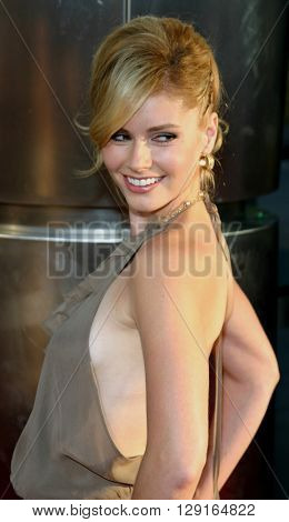 """Brianna Brown at the Los Angeles premiere of """"The 40 Year-Old Virgin"""" held at the ArcLight Theatre in Hollywood, USA on August 11, 2005."""