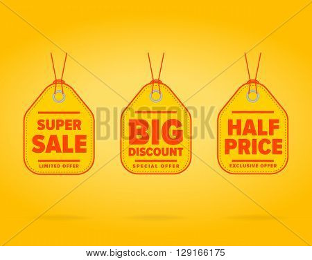 Sale Tag Special Ad Offer Half Vector  Photo  Bigstock