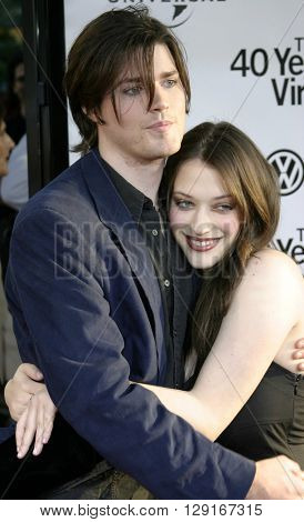 "Ira David Wood and Kat Dennings at the Los Angeles premiere of ""The 40 Year-Old Virgin"" held at the ArcLight Theatre in Hollywood, USA on August 11, 2005."