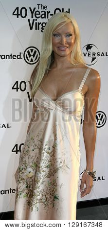 """Caprice at the Los Angeles premiere of """"The 40 Year-Old Virgin"""" held at the ArcLight Theatre in Hollywood, USA on August 11, 2005."""