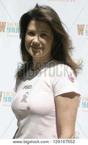 Daphne Zuniga at the W Magazine Hollywood Yard Sale held at the W Mag in Los Angeles, USA on September 12, 2004.