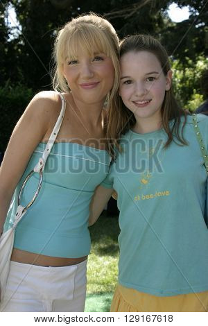 Kay Panabaker and Shelley Buckner at the W Magazine Hollywood Yard Sale held at the W Mag in Los Angeles, USA on September 12, 2004.