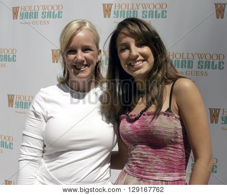 Alyce Alston and Vanessa Lengies at the W Magazine Hollywood Yard Sale held at the W Mag in Los Angeles, USA on September 12, 2004.
