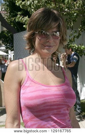 Lisa Rinna at the W Magazine Hollywood Yard Sale held at the W Mag in Los Angeles, USA on September 12, 2004.