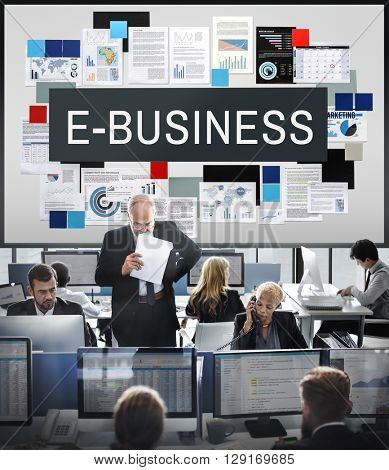 E-Business Commerce Connecting Digital Email Concept