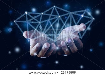 Wireless connection,  futuristic technology concept