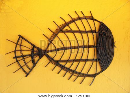 Wicker Stick Fish Craft