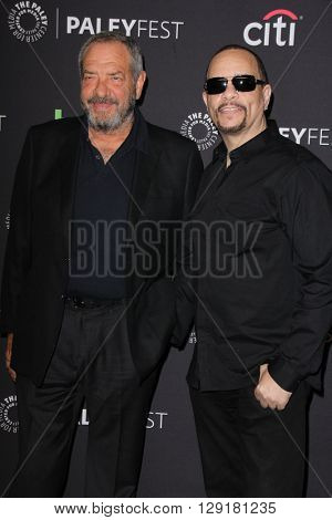 LOS ANGELES - MAR 19:  Dick Wolf, Ice-T at the PaleyFest 2016 - Dick Wolf Salute at the Dolby Theater on March 19, 2016 in Los Angeles, CA