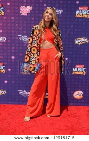 LOS ANGELES - APR 29:  Jennessa Rose at the 2016 Radio Disney Music Awards at the Microsoft Theater on April 29, 2016 in Los Angeles, CA