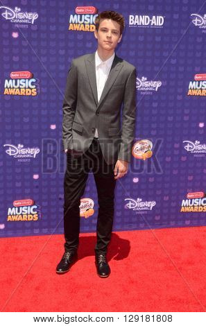 LOS ANGELES - APR 29:  Corey Fogelmanis at the 2016 Radio Disney Music Awards at the Microsoft Theater on April 29, 2016 in Los Angeles, CA