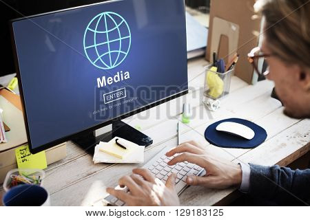 Media Entertainment Multimedia Connection Networking Concept