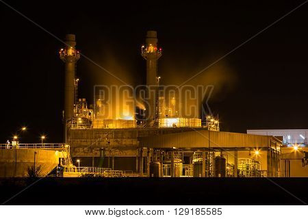 Cooling Tower At Night