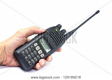 Hand held VHF/UHF frequency radio for communication
