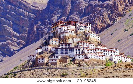 Kee monastery in himalayas mountain poster