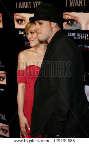Hilary Duff and Joel Madden at Hilary Duff's 18th Birthday Party at the Club Mood in Hollywood, USA on September 28, 2005.