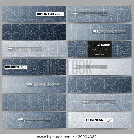Banners set. Abstract floral business background, modern stylish vector texture.