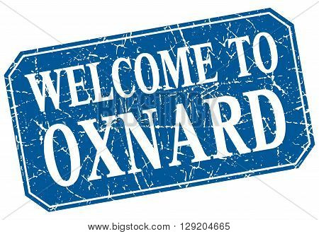 welcome to Oxnard blue square grunge stamp