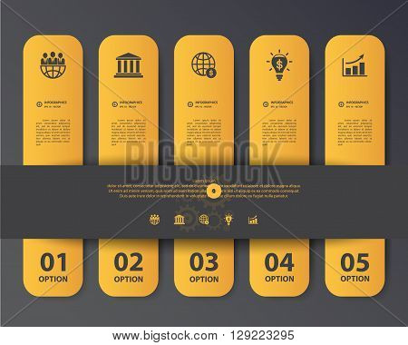 Design Flat Shadow Step Number Banners /graphic Or Website. Vector/illustration.