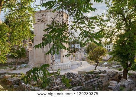 Tower Of The Wind-gods At Roman Agora, Athens, Greece