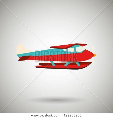 seaplane icon design, vector illustration eps10 graphic